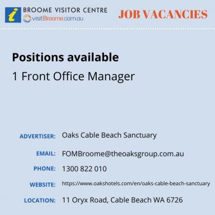 Bvc jobs board oaks cable beach