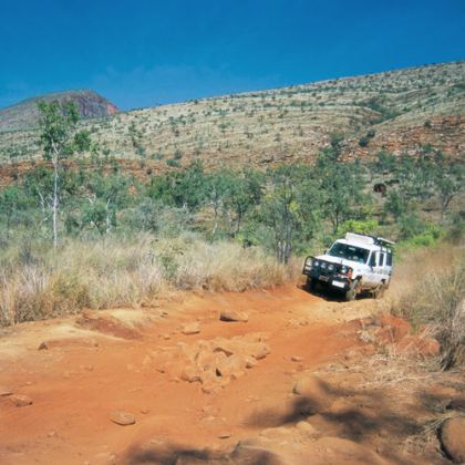 Road to Lennard River Gorge off Gibb River Road