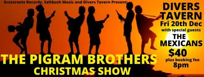 The Pigram Brothers Christmas Show at Divers Tavern