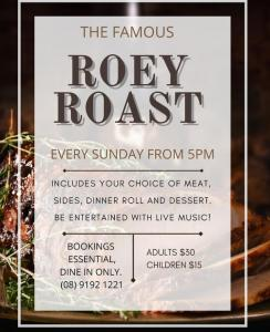 Roey Roast - every Sunday from 5pm