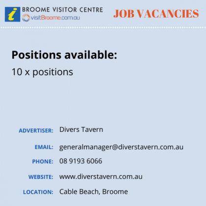 Bvc jobs board divers