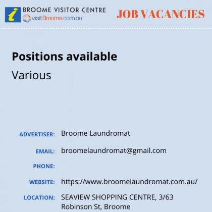 Bvc jobs board broome laundro