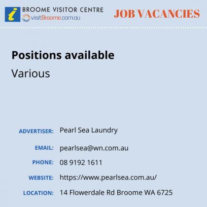 Bvc jobs board pearl sea