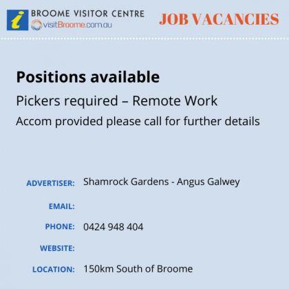 Bvc jobs board Shamrock Gardens