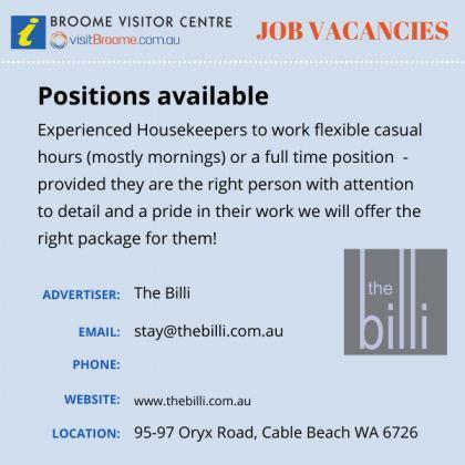Bvc jobs board billi