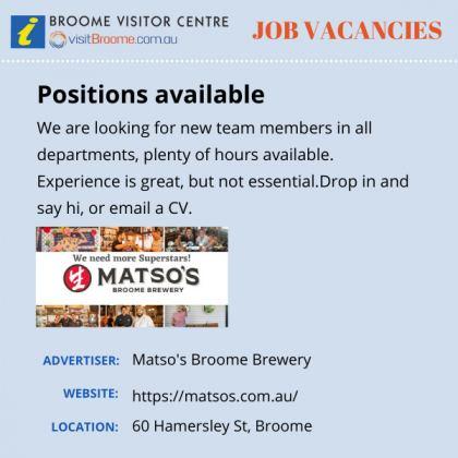 Bvc jobs board matsos